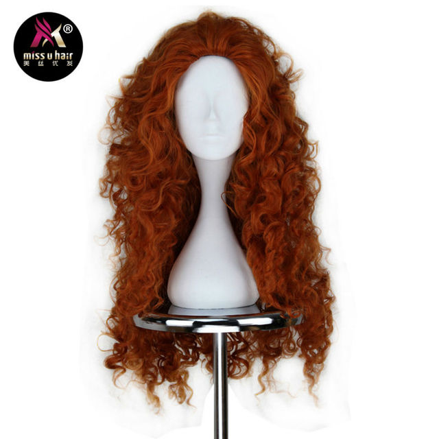 Reddish Copper BrownCurly Cosplay Wig