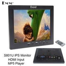Free shipping!Eyoyo 8″ IPS LCD Video Audio VGA HDMI BNC Monitor MP5 For DVR PC CCTV Remote Control