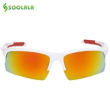 SOOLALA Polarized Sunglasses Mens Brand Designers 2017 For Sports Goggle Sunglasses Windshield Glasses Gradient TAC Lens