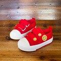 Sorrir um pastel e sapatas de lona das crianças shoes crianças shoes suave inferior shoes 1-3 shoes respirável do bebê