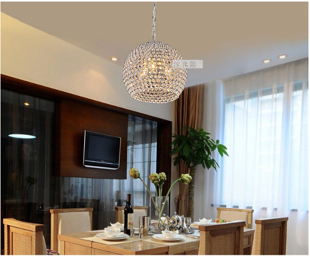 crystal pendent lamp modern brief luxurious round crystal Dia30cm led E14*3 heads pendant light decor pendent lamp 1634 free shipping european style modern luxury brief crystal candle pendant lamp with 3 heads 5 heads