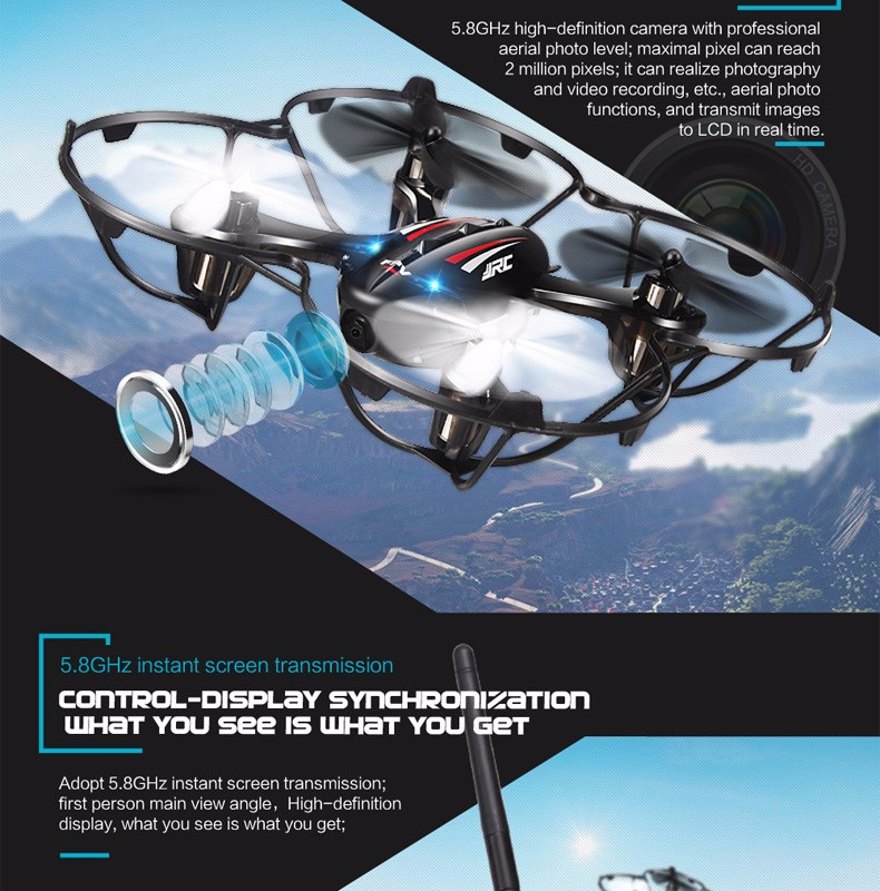 FPV Mini Drones With Camera Hd Jjrc H6d Quadcopters With Camera 4CH Flying Helicopter Camera Professional Drones Rc Dron Copter (4)