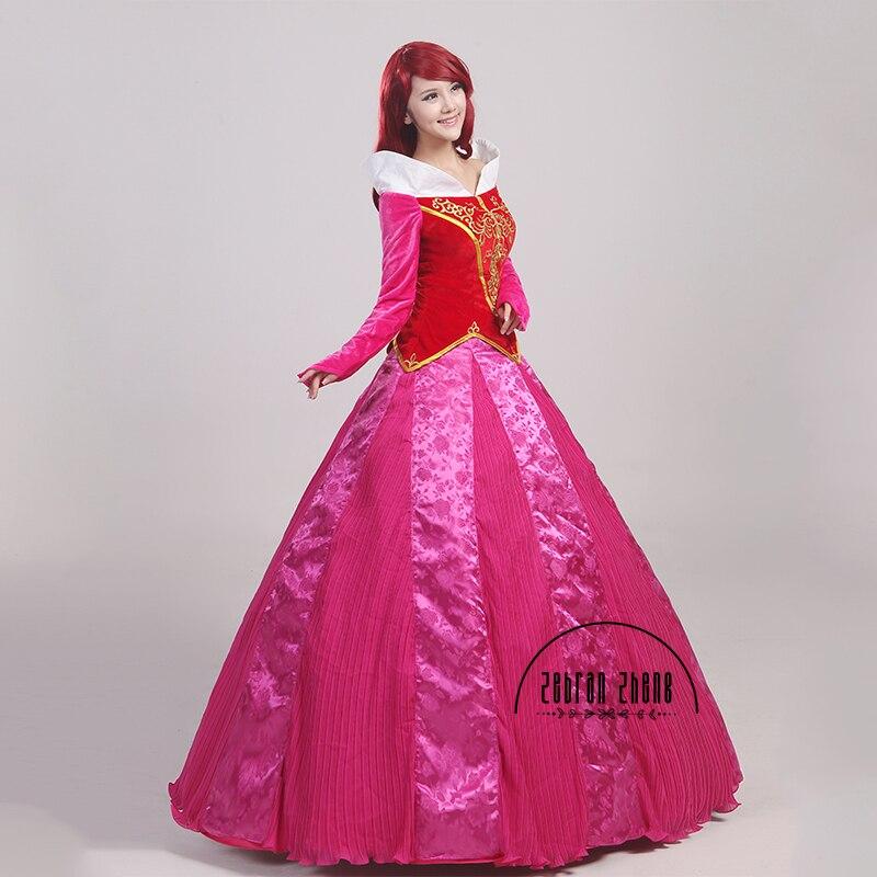 Nieuwe aankomst Doornroosje Prinses Aurora Cosplay Kostuum voor - Carnavalskostuums - Foto 2