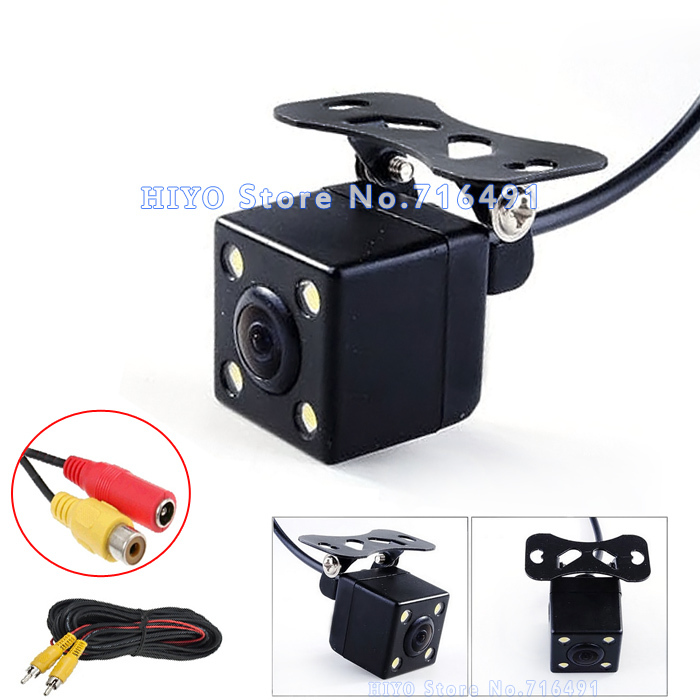 цена на New 2Pcs/lot 170 Degree wide viewing angle cctv camera Waterproof front Backup Parking car rear view camera