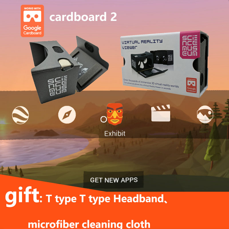 3D VR Glasses Virtual Reality Headsets Daydream for VR 360 Videos Movies  Inspired by Google Cardboard 2 made of