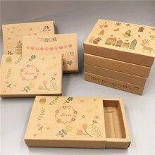 Caja de papel tipo cajonera, 30 Uds., recuerdo de fiesta de boda, cajas de papel de regalo para dulces/Handiraft/Cajas de Regalo de galletas