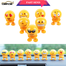 купить car decoration shaking head doll car Ornaments Emoji Automobiles Decor Toys Cute Auto Interior Car Decoration Accessories дешево