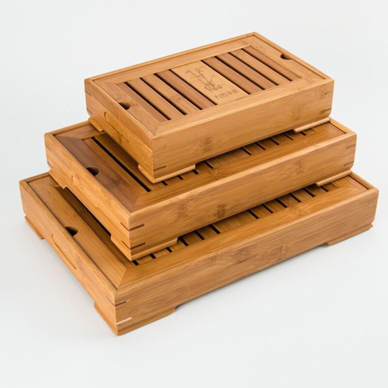 Livraison gratuite petite taille bambou plateau de thé
