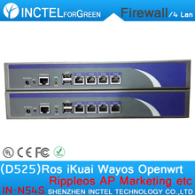 Intel Atom D525 Dual Power Supply Dual Fan Industrial 1U BAS Firewall Network Security Appliance