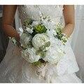 Flone искусственные пионы Цветы Свадебные невесты букеты держащие цветы для домашней вечеринки цветочное украшение