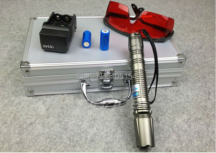 Shoot bird  & 500w 500000mw 450nm blue laser pointers SOS burning match,camping signal lamp Hunting burn cigarettes+Glasses+box какое авто можно до 500000