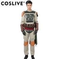 Coslive Боба Фетт косплэй Костюм взрослых полный комплект наряды Звездные войны Хэллоуин косплей фантазии платье Costum для мужчин