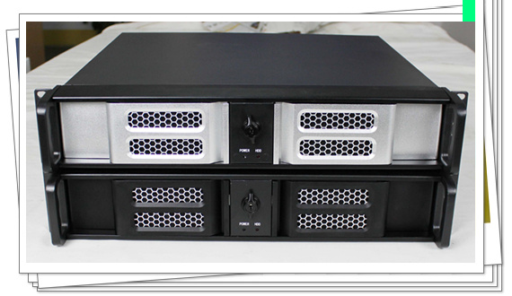 Ultra short 2U cabinet aluminum panel double door monitoring routing server 2U industrial control cabinet server 2u industrial control cabinet whole black belt lock case