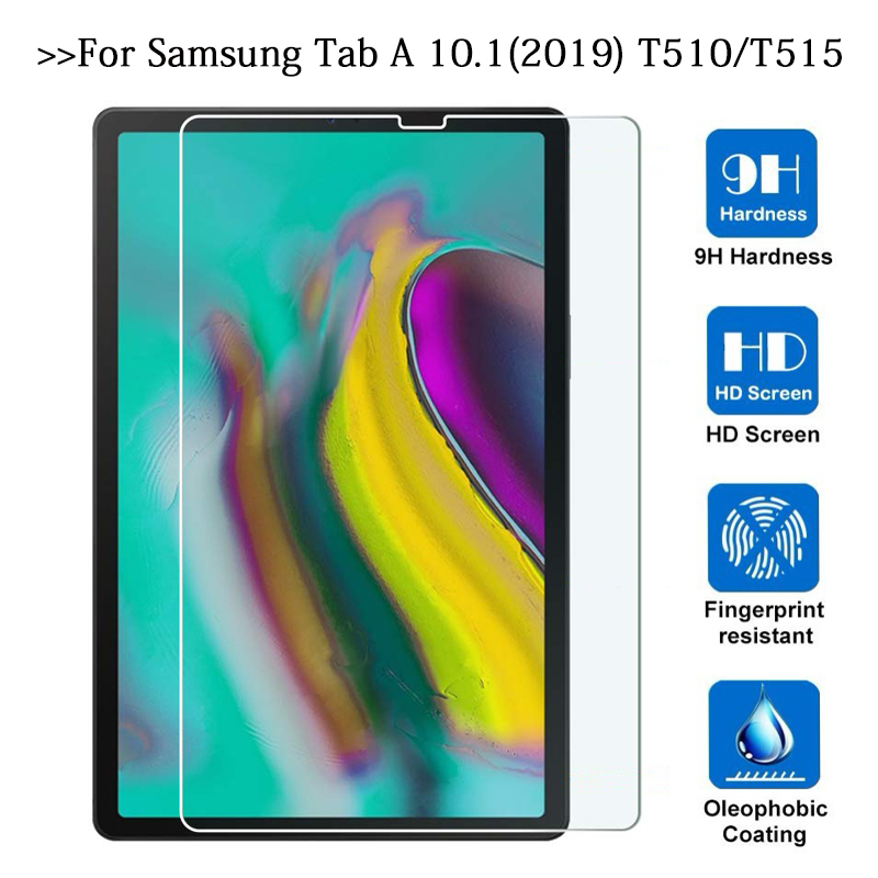 Tempered Glass Screen Protector Film On For Samsung Galaxy Tab A 10.1 2019 T510 T515 SM-T510 SM-T515 Tablet Screen 9H HD Glas