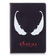 Купить с кэшбэком Venom cartoon shell for Apple ipad 2017 2018 Pro 9.7 automatic sleep wake up flip support PU leather case cover protective cover