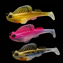 1 pièces tête de plomb leurre de pêche appât doux Anti pendaison fond BBK crochets japon saut poisson Isca artificiel Pesca Wobblers 7 cm 14g