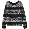 high quality women winter thick warm lace patchwork runway sweater brand wool knitted snowflare pullover Sweater jumper