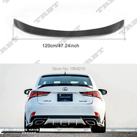 For Lexus IS200 IS250 IS350 IS300 AWD/IS200T 2014 2018 Carbon Fiber Rear Roof Spoiler Tail Boot Lip Trunk Wing Car Accessories