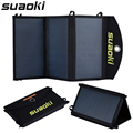 Suaoki 20 w carregador de painel solar de alta eficiência dual-port carregador portátil dobrável com tecnologia de tir-c