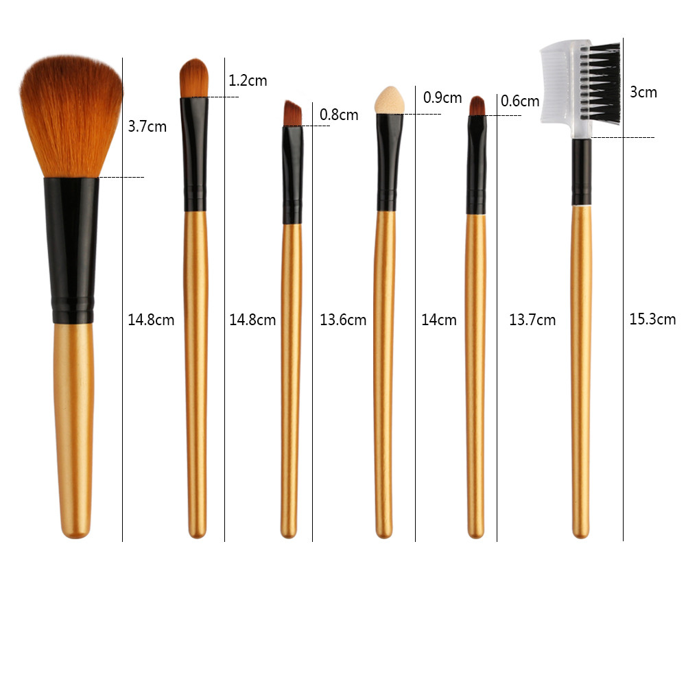 6PCS Make Up Foundation Professional  Eyebrow Makeup Brushes Set