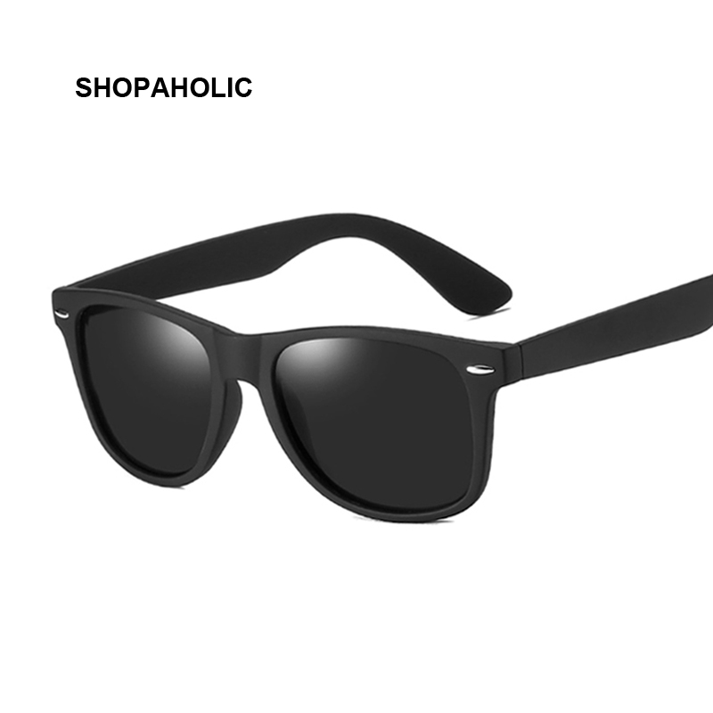 Men Polarized Sunglasses Classic Men Retro Rivet Shades Brand Designer Mirrors Coating Points Black Frame Male Sun Glasses