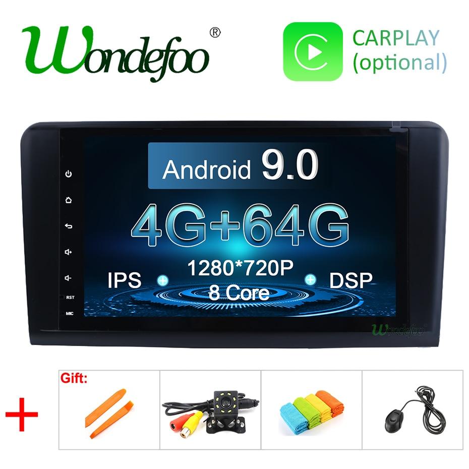 Android 9 0 4G 64G car GPS radio for Mercedes Benz ML GL W164 ML350 ML500