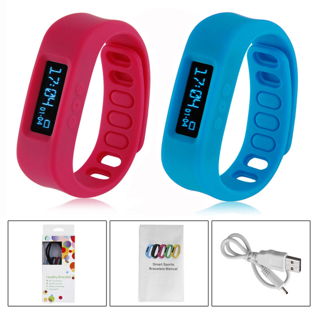 Intelligent Motion Bracelet Smart Sport Bracelet Chic Bluetooth Smart Healthy Bracelet Sleep step counter Silicone Wristband