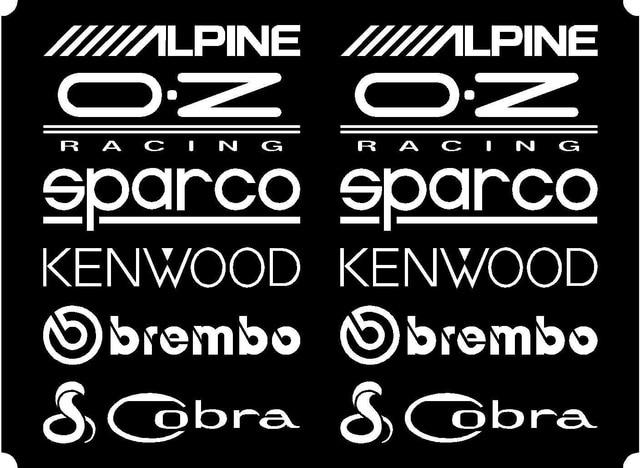 Car Styling for 12 Matt Car Door Stack Sponsor Logo StickersGraphicsDecals set  sc 1 st  AliExpress.com & Car Styling for 12 Matt Car Door Stack Sponsor Logo Stickers ...