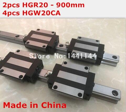 HG linear guide 2pcs HGR20 - 900mm + 4pcs HGW20CA linear block carriage CNC parts 2pcs sbr16 800mm linear guide 4pcs sbr16uu block for cnc parts