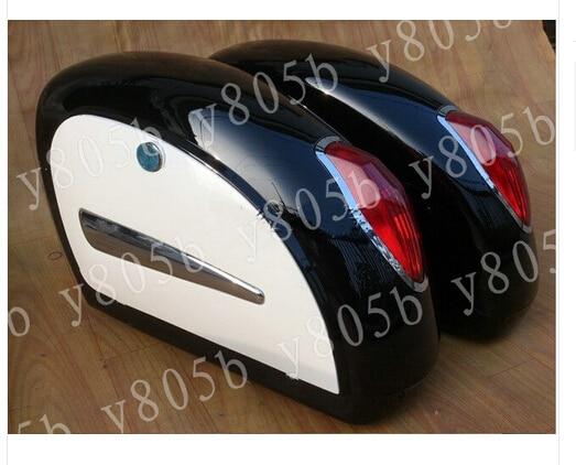 Motorcycle Hard Saddlebags Trunk Lights Bag Luggage Mounting For Yamaha Vstar 400 650 1100 1300