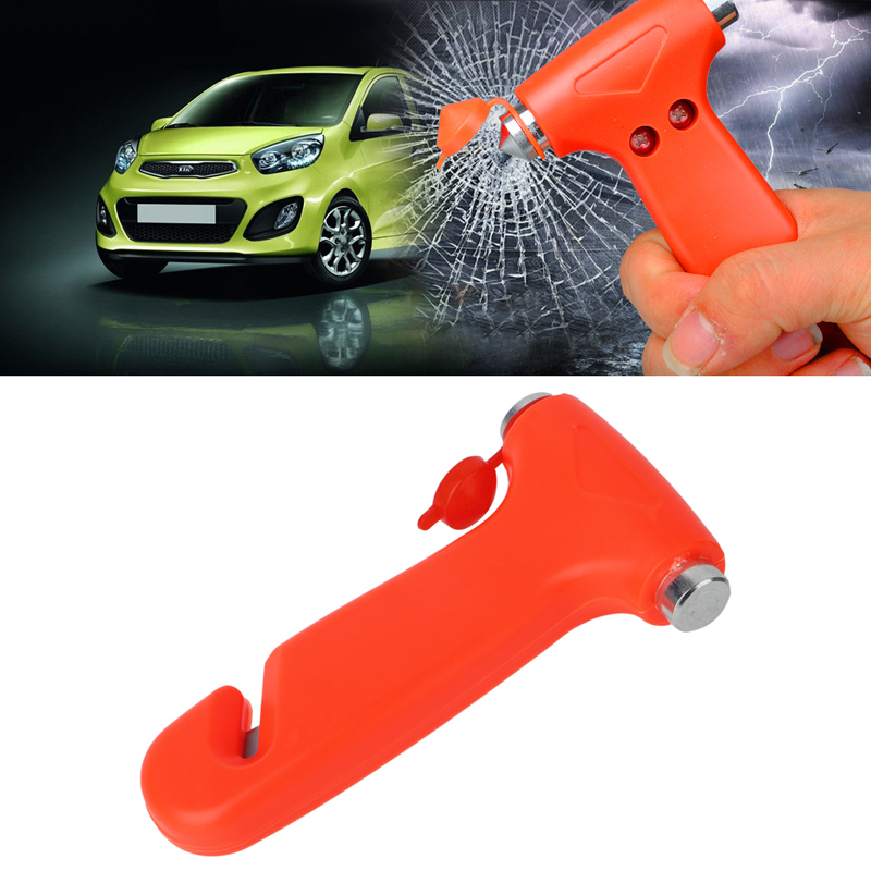 High-carbon Steel Car Safety Hammer Life Saving Escape Emergency Seat Belt Cutter Window Glass Breaker Car Rescue Tool 10166
