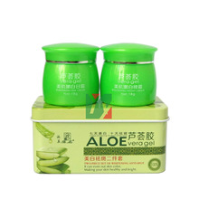 PAIMEI aloe vera gel 7days shining and whitening 10days anti-spot day + night cream 2pcs/set aloe vera micropropagation and rapd analysis