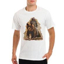 VLADIMIR PUTIN on bear Russian President mens white t-shirt New T Shirts Funny Tops Tee Unisex