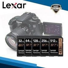 Cartão original da memória do sd do cartão 633x de lexar 64 gb 128 gb 256 gb cartões UHS-I u3 sdhc/sdxc cartão de memória flash para o transporte livre da câmera