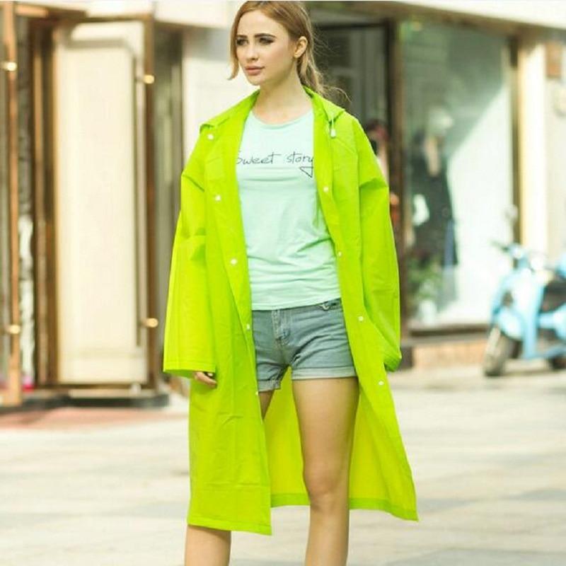 WINSTBROK Rain Jacket Women / Men 2018 패션 비 코트 불 침투성 환경 디자인 비 재킷 Eva Ladies 긴 레인 코트