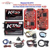 Online EU Version Red KESS V5.017 SW V2.23 v2.25 v2.47 2.47 No Token Limit Kess V2 5.017 HW ktag v7.020 OBD2 Manager Tuning Kit