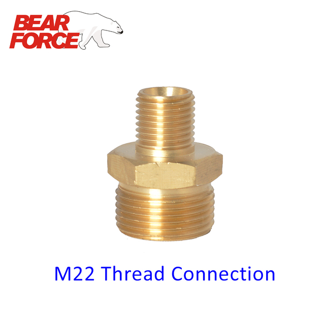 M22 Thread Connector for Snow Soap Lance/ Foam Nozzle for ...