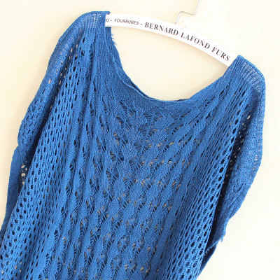 Свитера женские 2019 Новая мода лето Осень Свободные Выдалбливают набивной рукав/вязаная тонкий пуловер дешевая ткань Vestidos LXJ039