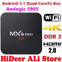 2016 New MX Pro Android TV Box Amlogic S905 Quad Core Android5.1 DDR3 1G HDMI 2.0 WIFI 4K 1080i/p Kodi 16.0 Full loaded add-ons