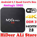 2016 New MX Pro Android TV Box Amlogic S905 Quad Core Android5.1 DDR3 1G HDMI 2.0 WIFI 4K 1080i/p Kodi 16.0 Full loaded add-ons