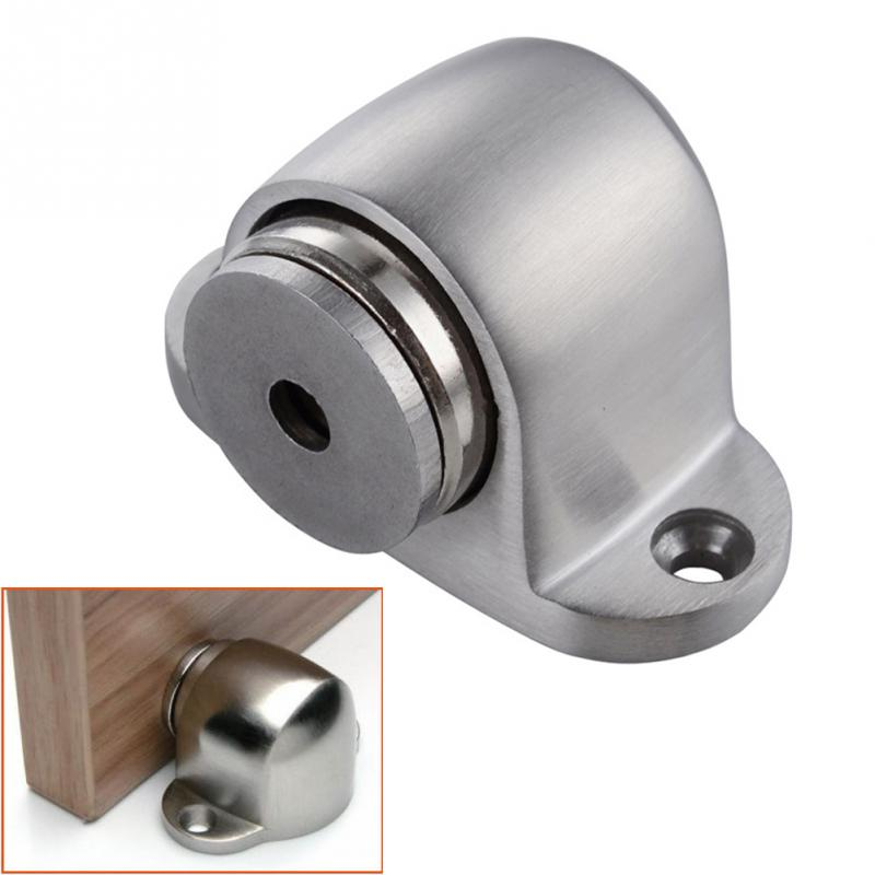2016 NEW Stainless Steel Magnetic Sliver Door Stop Casting Powerful Mini Door Stopper Holder Catch For Bedroom Home
