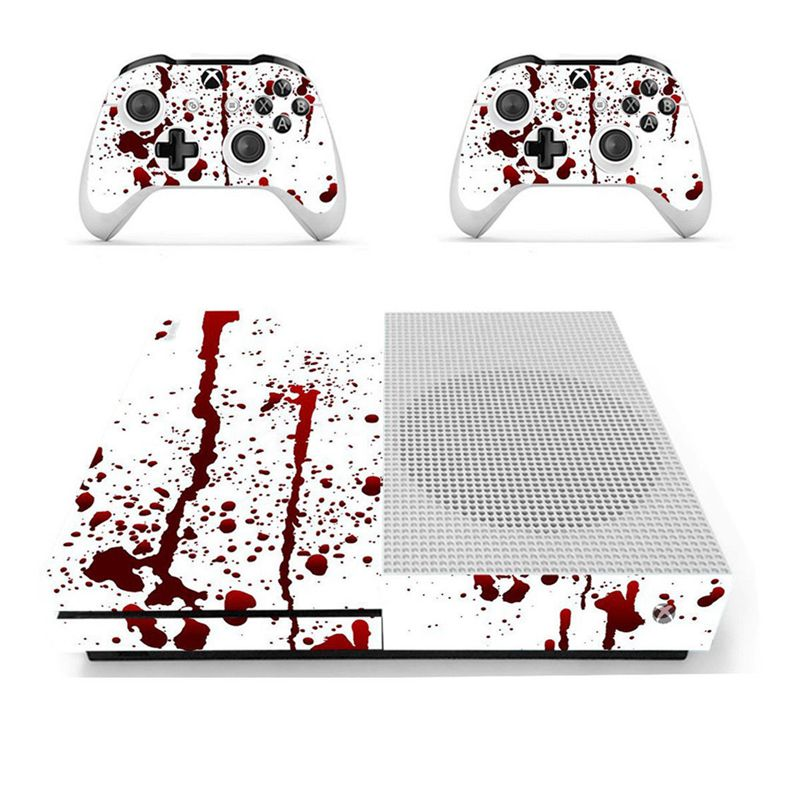 Hot!! Bloody Vinyl Decal Skin Stickers For Xbox One S Console + 2 Controller Skins(China)