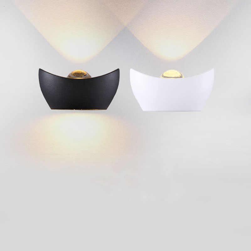 Продукт алюминия открытый настенный светильник водонепроницаемый белый/черный buitenlamp палочка сад вилла eclairage exterieur творческих настенные светильники