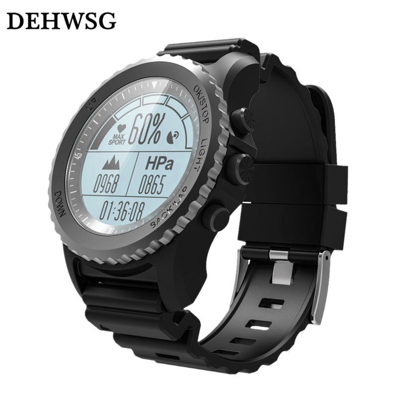 DEHWSG IP68 Waterproof Smart Watch S968 GPS tracker Heart Rate monitor Multi-sport Men Watch call reminder For IOS Android phone lemdioe smart watch ip68 waterproof for men heart rate monitor multi sport mode bluetooth call smartwatch for android ios phone