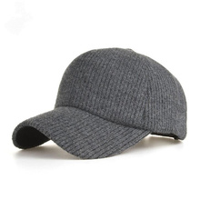 New Knitted Design Winter Baseball Cap Men And Women Thicken Warm Hats Solid Color H3