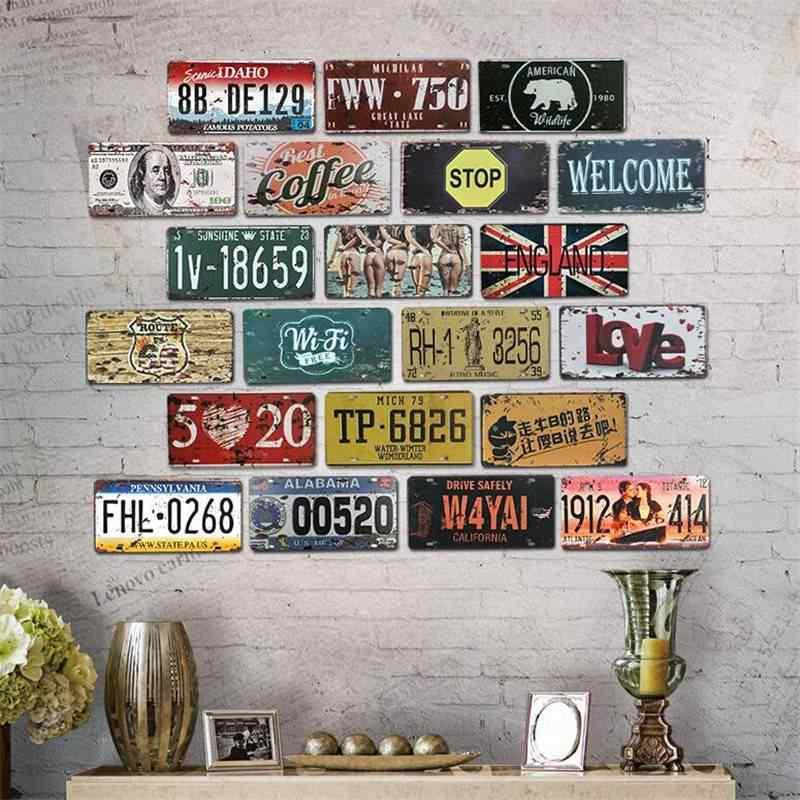Металлическая жестяная вывеска, национальный флаг родного лисы, винтажная гаражная лицензия, пластинчатая доска, плакат, бар, Клубная стена, украшение дома 30*15 см C7