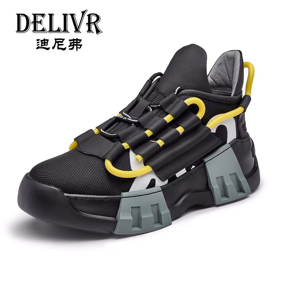 Delivr Men Sneakers Luxury Brand 2019 Increasing Thick Sole Shoes Chunky Shoes Male Casual Daddy Shoes Vulcanized Shoes Mens