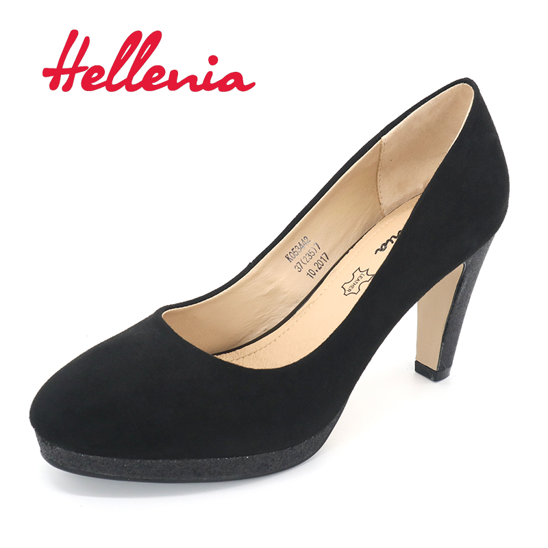 Hellenia 2017 Women pumps Fashion Rounded toe high heels shoes Spring Summer Wedding Shoes woman high heels party office lady 2016 spring high heels women glatiador shoes sex party pumps office lady plain peep toe valentine shoes