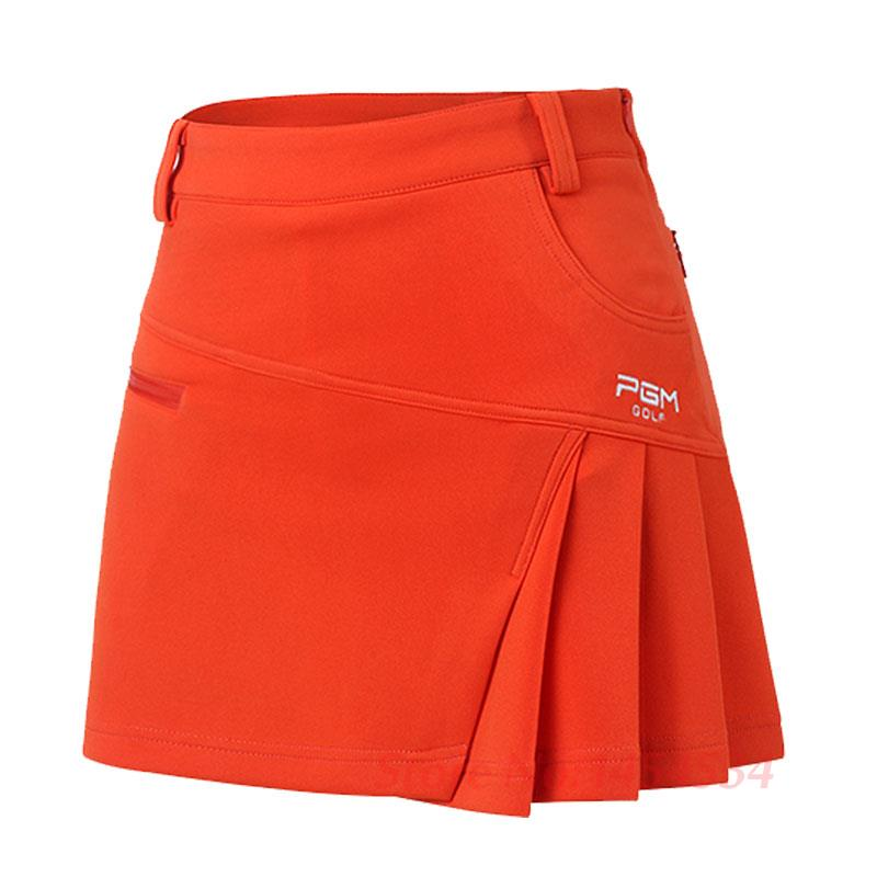 Send Belt! PGM Woman Short Skirt Summer Clothes Pantskirt Anti Emptied Golf Shorts Pleated Skirt Tennis Safety Wrinkle Skorts