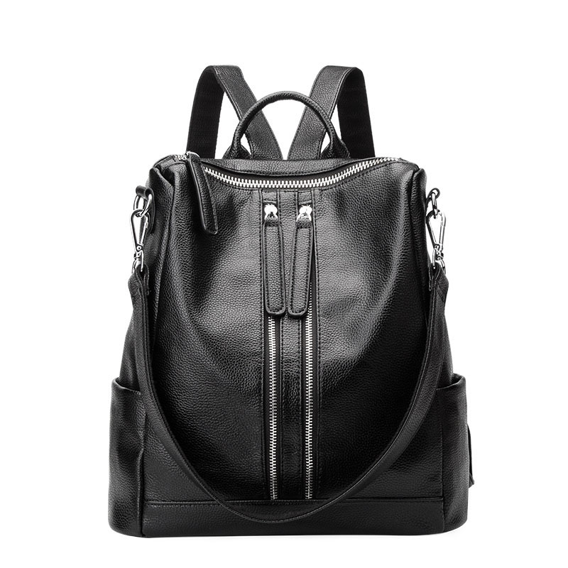 Leather Women Backpack Female Bags Casual School Shoulder Bag For Teenager Girls High Quality Backpacks
